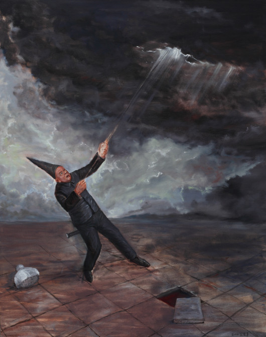 Man Pulls the Clouds