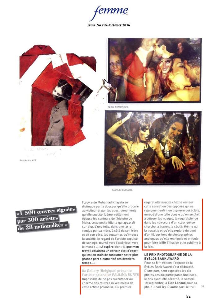 Femme Magazine – October 2016