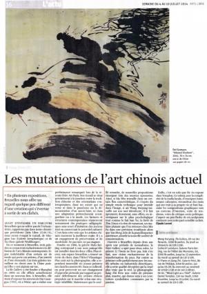 LES MUTATIONS DE L'ART CHINOIS ACTUEL – LA LIBRE BELGIQUE/ART LIBRE