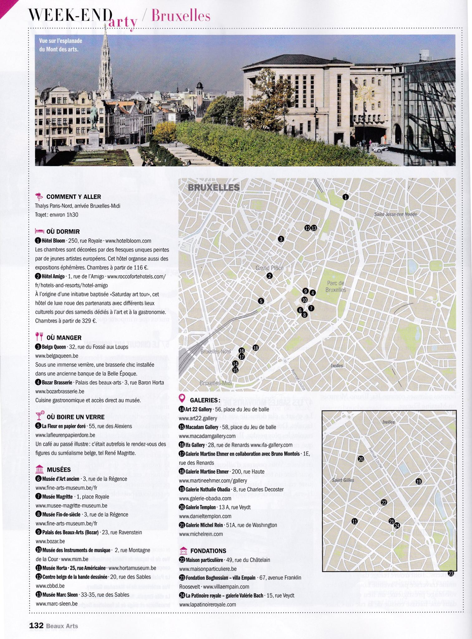 Maison Du Nord Magazine weekend arty à bruxelles – beaux arts magazine, april 2015