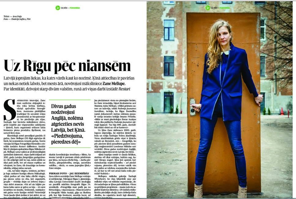 Ir Magazine – Zane Mellupe article – p.1