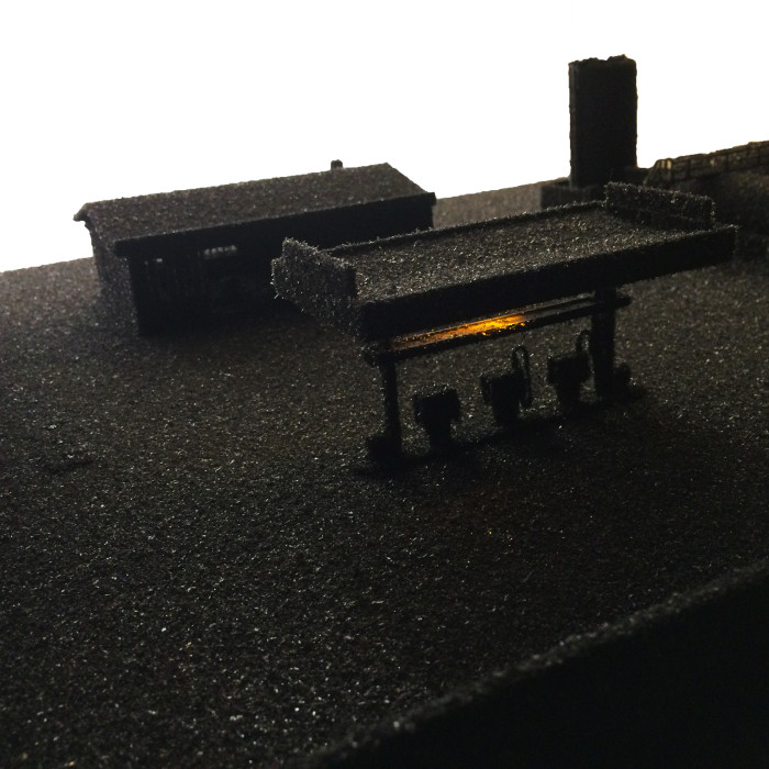 Gas Station (detail with light on)