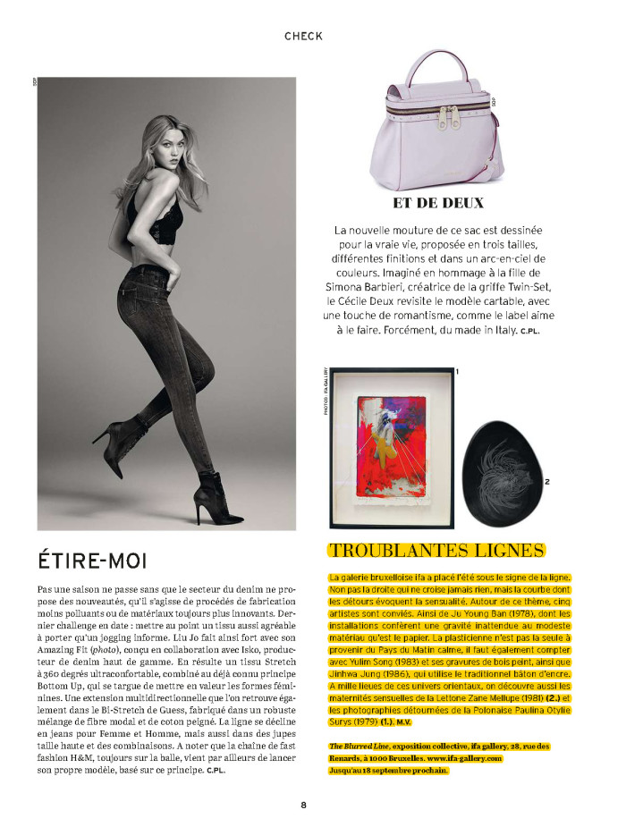 article Vif/ L'Express - The Blurred Line