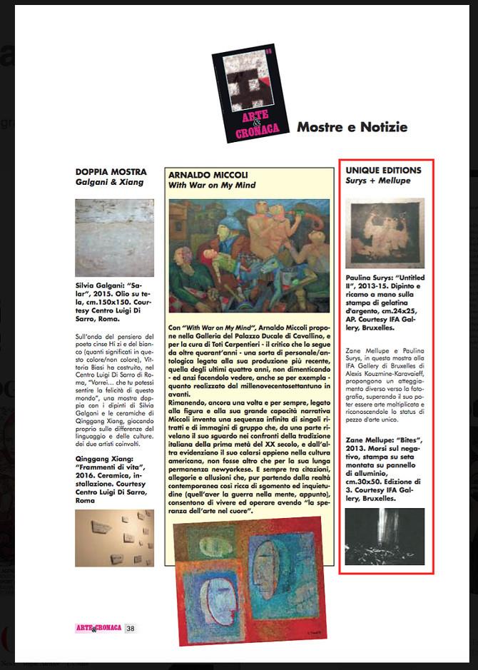 Arte Cronaca - Unique editions