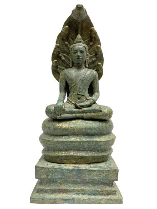 Seated Buddha in vîrâsana bhûmisparsha mudrâ